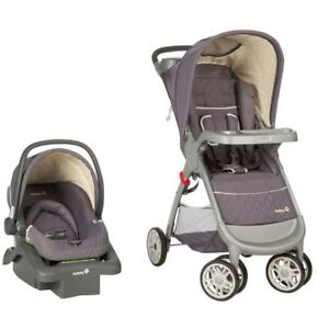 SAFETY 1ST AMBLE QUAD TRAVEL SYSTEM Little Used