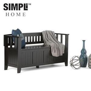 NEW SH ENTRYWAY STORAGE BENCH SIMPLI HOME ENTRYWAY STORAGE BENCH - BLACK 99414062