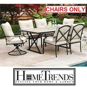 NEW HT PARKLAWN 6 PATIO CHAIR SET HOMETRENDS PATIO FURNITURE GARDEN OUTDOOR CHAIRS