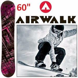 "NEW AIRWALK KONA SNOWBOARD 60""   PINK ROCKER WOMEN'S SNOWBOARD - WINTER SPORTS - OUTDOORS  84602066"