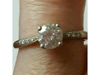 Lucie Campbell of London Platinum 4 Claw Diamond Ring 0.47ct size i1/2 Engagement ring