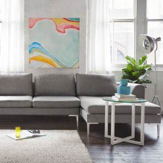 Freedom Hilton 2.5 Seat Modular Sofa in Esquire Pewter Brighton-le-sands Rockdale Area Preview