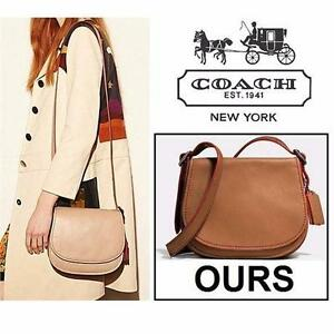 NEW COACH SADDLE BAG 23 PURSE TABAC WOMEN LADIES PURSES BAG SATCHEL GLOVETANNED LEATHER FLAP CLOSURE 99567960