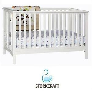 NEW STORK CRAFT HILLCREST CRIB BABY - TODDLER - FIXED SIDE CONVERTIBLE - WHITE Baby › Nursery › Furniture