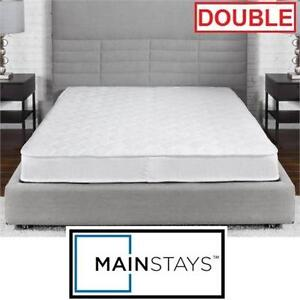 "NEW MAINSTAYS 6"" INNERSPRING MATTRESS INNERSPRING COIL - DOUBLE - WHITE - 6 INCH MATTRESS 96003954"