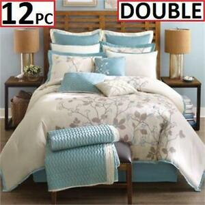 NEW 12PC MADISON PARK COMFORTER SET   DOUBLE SIZE - CALLISTA - BEDDING SET  85212178