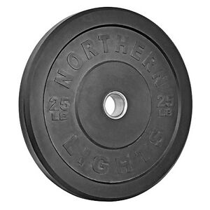 Northern Lights 25lb Olympic Bumper Plates WPOBNL1YG25B