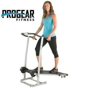 NEW PROGEAR 190 MANUAL TREADMILL 2 LEVEL INCLINE - TWIN FLYWHEELS EXERCISE EQUIPMENT FITNESS 109017526