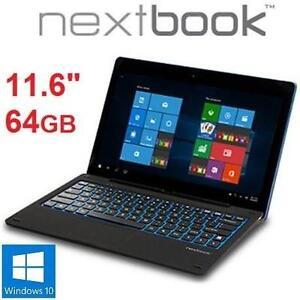 "NEW OB NEXTBOOK 11.6"" 64GB TABLET - 106820752 - TABLET PC COMPUTER - ELECTRONICS - WINDOWS 10 - QUAD-CORE - NEW OPEN BOX"