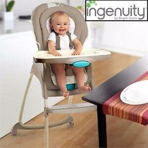 USED INGENUITY 3 IN 1 HIGH CHAIR   SAHARA BURST 3-IN-1 DELUXE HIGH CHAIR BABY FURNITURE NURSERY KITCHEN  92167304