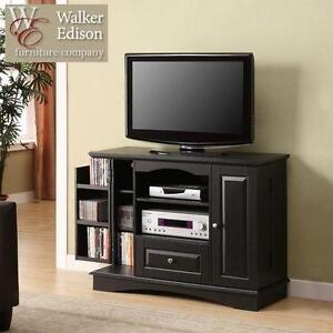 """NEW WE HIGHBOY STYLE TV STAND 42"""" BLACK HIGHBOY STYLE TV STAND 103170217"""