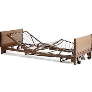 Hospital Electric Bed with ramps, mattress & extra new remote