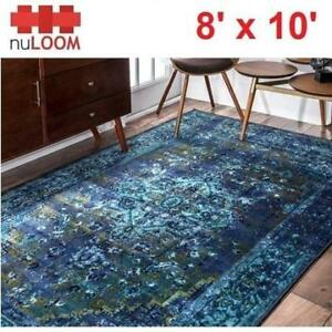 NEW NULOOM REIKO 8' x 10' AREA RUG MCGZ01C-8010 213448203 VINTAGE BLUE RUGS CARPET FLOORING DECOR ACCENTS MAT