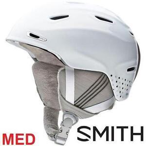 NEW SMITH HELMET WOMEN'S MED ARRIVAL - WHITE DOTS - SKIING SNOWBOARDING WINTER SPORTS 100154680
