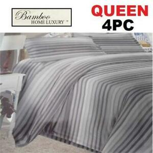 NEW BAMBOO 4PC BED SHEET SET QUEEN 1122K 238770689 HOME LUXURY 9500 QUEEN DEEP POCKET WRINKLE FREE BEDDING BEDROOM 10...