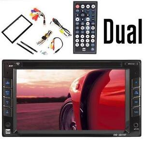 """NEW DUAL MULTIMEDIA DVD RECEIVER - 105713920 - 6.2"""" DIGITAL LCD TOUCHSCREEN CAR STEREO DOUBLE DIN DVD/MP3/WMA - DECK"""