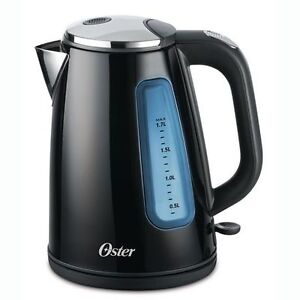 Oster 1.7L Stainless Steel Kettle, Black - Brand New In Box