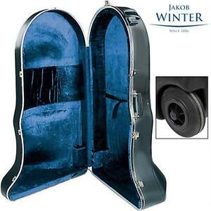 NEW JAKOB WINTER CF ABS TUBA CASE CF ABS SERIES - CC/F ROTARY VALVE TUBA - MUSICAL INSTRUMENTS - W/ WHEELS