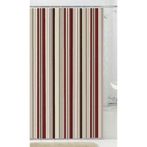 NEW: Fabric Shower Curtain with 12 Hooks