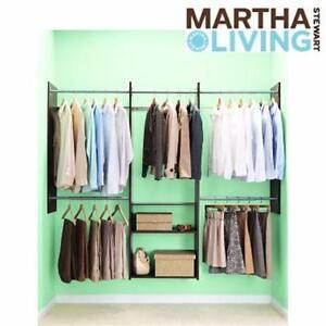 NEW* MSL DELUXE CLOSET ORGANIZER MARTHA STEWART LIVING - 4' TO 8' - ESPRESSO WARDROBE ORGANIZATION STORAGE 99565943