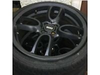 "MINI COOPER S JOHN COOPER WORKS WORX GP 18"" INCH ALLOY WHEELS BLACK"