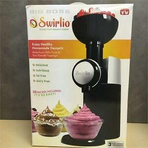 NEW, Big Boss 9338 Swirlio Frozen Fruit Dessert Maker- Black