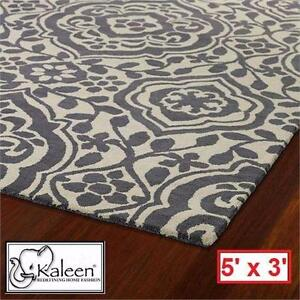 NEW KALEEN EVOLUTION GREY AREA RUG 5' x 3' - HOME DECOR RUGS CARPET CARPETS FLOORING PAD PADS  82937529