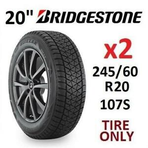 2 NEW BRIDGESTONE WINTER TIRES 20 005-852 233281906 245/60R20 107S BLIZZAK DM-V2