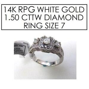 NEW* STAMPED 14K RPG DIAMOND RING 7 - 101665155 - JEWELLERY - JEWELRY - 14K RPG WHITE GOLD - 1.50 CTTW