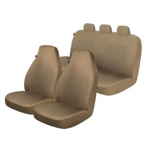 NEW:Universal Seat Cover Kit-Tan Color(Front & Rear seat cover)