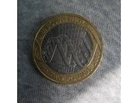 Dna double helix 2 pound coin