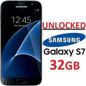 REFURB SAMSUNG GALAXY S7 SMARTPHONE - 102144943 - UNLOCKED GSM/LTE 32GB CELL PHONE REFURBISHED PRODUCT BLACK ONYX
