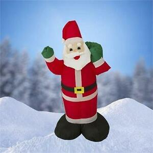 4 FT Airblown Inflatable Santa Claus Christmas Decoration w/ Inside Lights 254S2