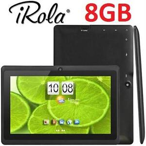 """NEW IROLA PRO 8GB TABLET 7"""" BLACK COMES W/ 1 SILICONE CASE (ASSORTED COLOURS) - ELECTRONICS 74282483"""