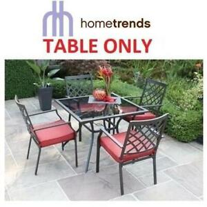NEW HOMETRENDS PATIO TABLE FCS70365DST 242150399 MONTCLAIR PATIO FURNITURE