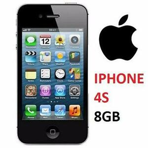 NEW APPLE IPHONE 4S 8GB LOCKED BLACK - CELL PHONE - SMARTPHONE SMART PHONE 75963927