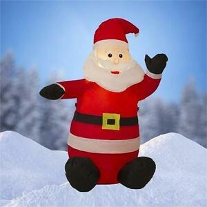 4 FT Airblown Inflatable Santa Claus Christmas Decoration w/Inside Lights 134S10