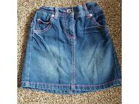 Girls denim cherokee skirt 7 - 8