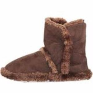 New, Hounds Women's Microfiber Indoor/Outdoor Booties Dark Brown Size 9/10