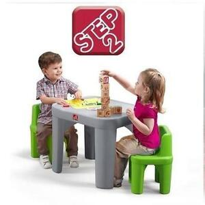 NEW STEP2 TABLE  CHAIRS SET - 114410499 - Step2 Mighty My Size Table  Chairs Set