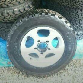 Vitara spare alloy wheel tyre as new