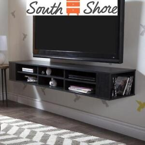 """NEW  SOUTH SHORE MEDIA CABINET 11743 215087358 66"""" CITY LIFE TV STORAGE CONSOLE"""