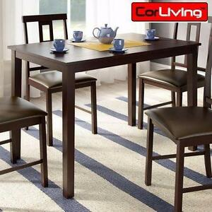 """NEW CORLIVING DINING TABLE   ATWOOD 28"""" x 44"""" DARK COCOA STAINED FINISH DINING TABLE HOME KITCHEN FURNITURE 92932197"""