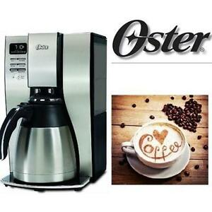 NEW OSTER THERMAL COFFEE MAKER 10 CUP STAINLESS STEEL - PROGRAMMABLE - HOME KITCHEN SMALL APPLIANCES 103663007