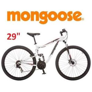 "NEW* MONGOOSE 29"" MEN'S BIKE 04R4058WMC 188895419 MOUNTAIN BICYCLE LEDGE 3.5 WHITE SHIMANO ATHLETIC SEAT"