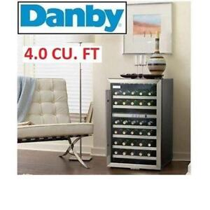 NEW DANBY 38 BOTTLE WINE COOLER DWC114BLSDD 232674688 REVERSIBLE DOOR HOME FRIDGE MINI FRIDGE 4.0CU FT.