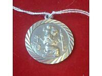 Silver Saint Christopher ( St Christopher )