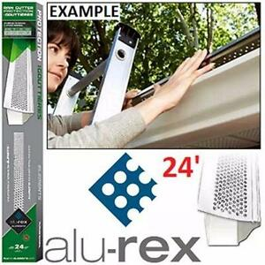 NEW ALU-REX RAIN GUTTER SHIELD MF MAXIMUM FILTRATION - 6PCS OF 4' EACH - WHITE HOME EAVES TROUGHS LEAVES 84225662