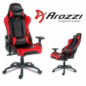 NEW AROZZI VERONA GAMING CHAIR   Verona Series Racing Style Gaming Task Chair (Red) VIDEO GAME FURNITURE 91343552