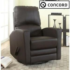 NEW* CONCORD BABY SWIVEL RECLINER 8010 199560770 GLIDER AUSTIN BROWN